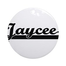 Jaycee Classic Retro Name Design Ornament (Round)