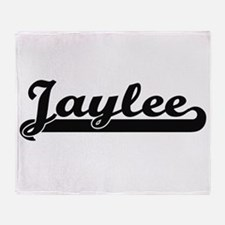 Jaylee Classic Retro Name Design Throw Blanket