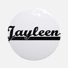 Jayleen Classic Retro Name Design Ornament (Round)