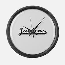 Jaylene Classic Retro Name Design Large Wall Clock