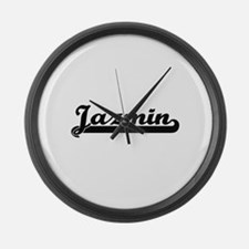 Jazmin Classic Retro Name Design Large Wall Clock