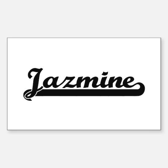 Jazmine Classic Retro Name Design Decal