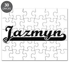 Jazmyn Classic Retro Name Design Puzzle