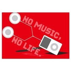 NO MUSIC, NO LIFE. Framed Print