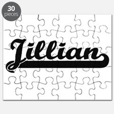 Jillian Classic Retro Name Design Puzzle