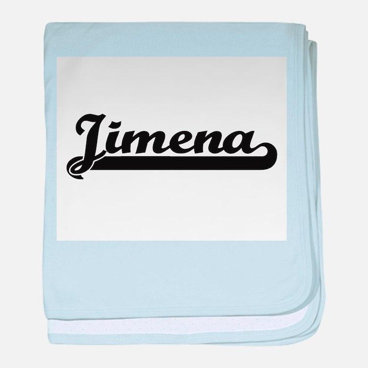 Jimena Classic Retro Name Design baby blanket