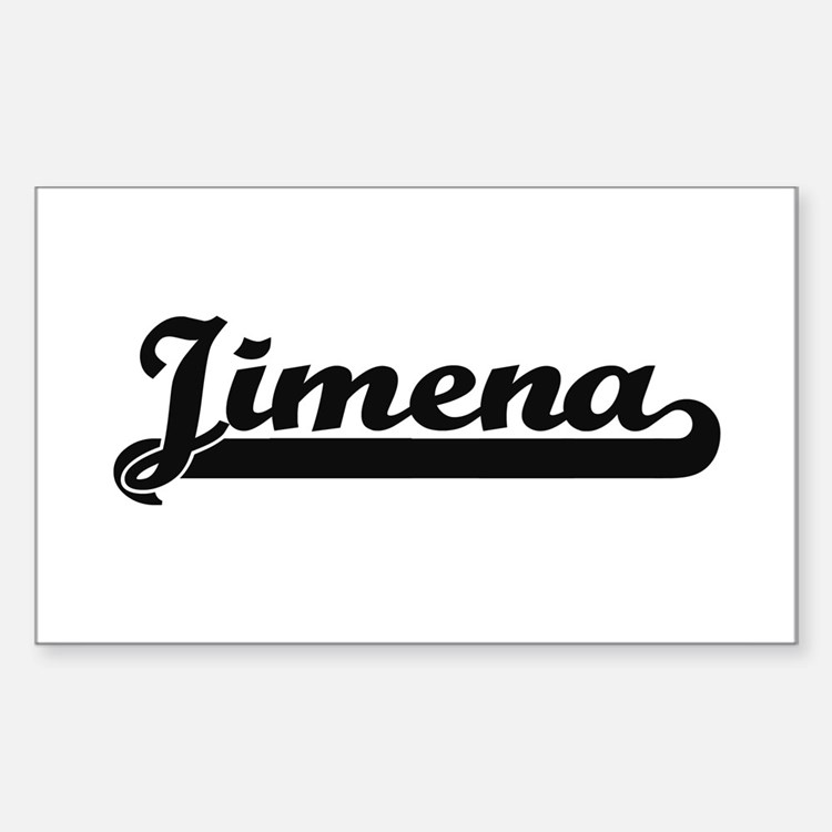 Jimena Classic Retro Name Design Decal