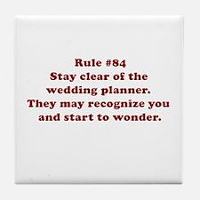 Rule #84 Tile Coaster