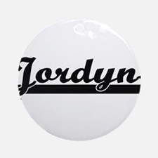 Jordyn Classic Retro Name Design Ornament (Round)