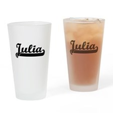 Julia Classic Retro Name Design Drinking Glass