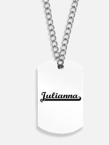 Julianna Classic Retro Name Design Dog Tags