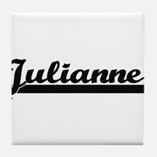 Julianne Classic Retro Name Design Tile Coaster