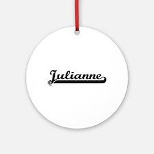 Julianne Classic Retro Name Desig Ornament (Round)