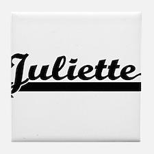 Juliette Classic Retro Name Design Tile Coaster