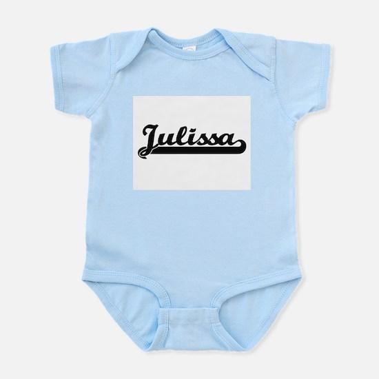 Julissa Classic Retro Name Design Body Suit