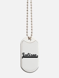 Julissa Classic Retro Name Design Dog Tags