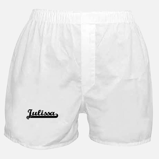 Julissa Classic Retro Name Design Boxer Shorts