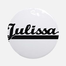 Julissa Classic Retro Name Design Ornament (Round)
