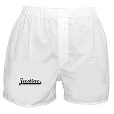 Justine Classic Retro Name Design Boxer Shorts