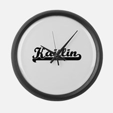 Kaitlin Classic Retro Name Design Large Wall Clock