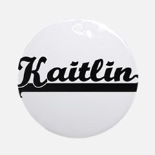 Kaitlin Classic Retro Name Design Ornament (Round)