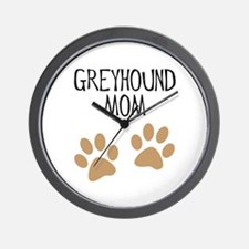 Greyhound Mom Wall Clock