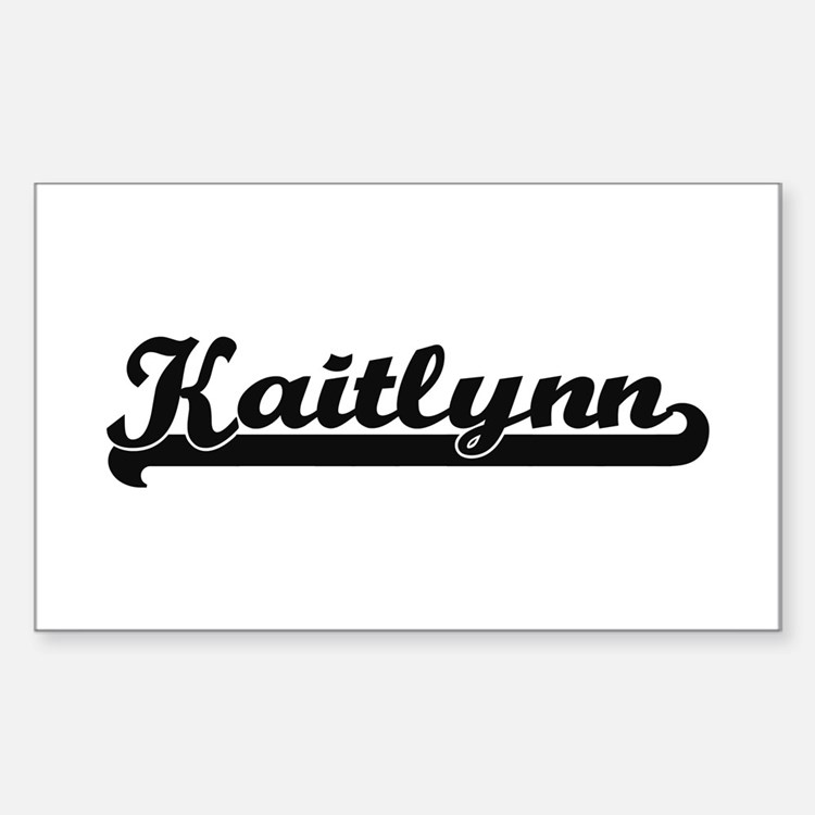 Kaitlynn Classic Retro Name Design Decal
