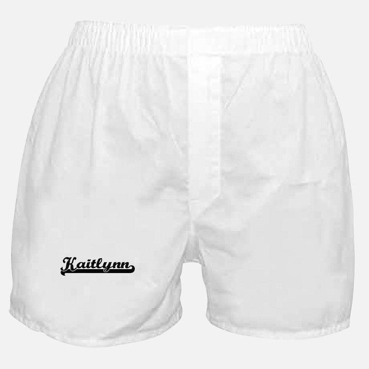 Kaitlynn Classic Retro Name Design Boxer Shorts