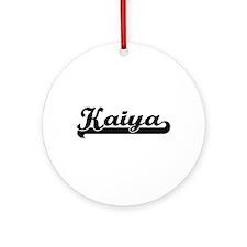 Kaiya Classic Retro Name Design Ornament (Round)