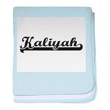 Kaliyah Classic Retro Name Design baby blanket