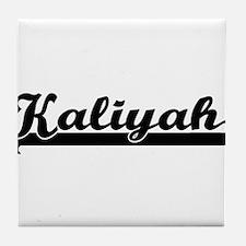 Kaliyah Classic Retro Name Design Tile Coaster