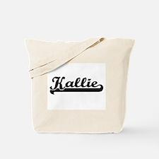 Kallie Classic Retro Name Design Tote Bag