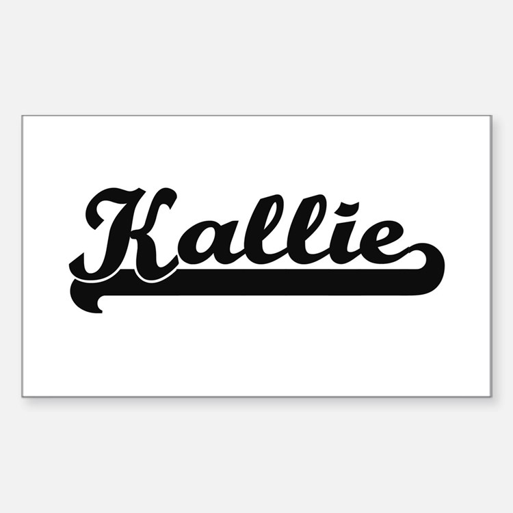 Kallie Classic Retro Name Design Decal