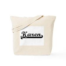 Karen Classic Retro Name Design Tote Bag