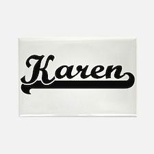 Karen Classic Retro Name Design Magnets