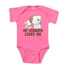 My Grandpa Loves Me Baby Bodysuit
