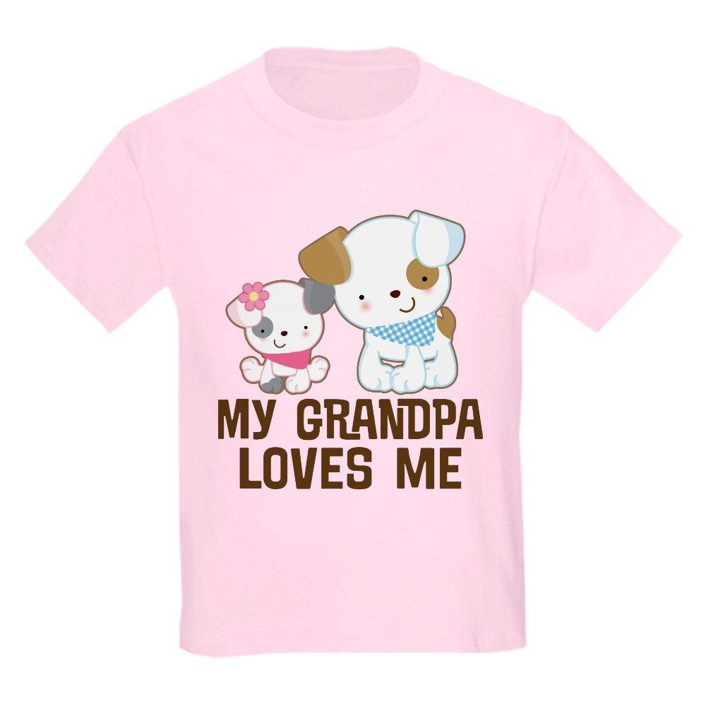 CafePress My Grandpa Loves Me Kids Light T Shirt Kids Light T-Shirt 1598029375