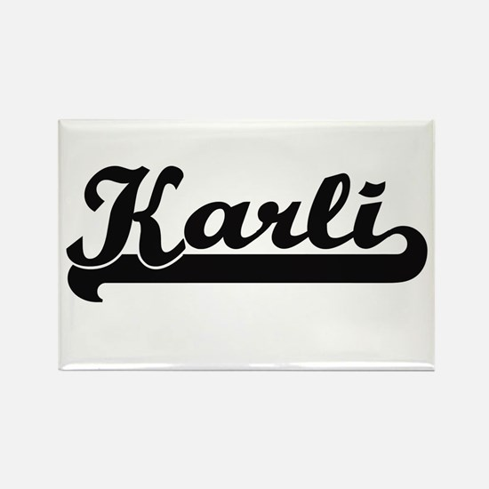 Karli Classic Retro Name Design Magnets