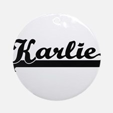 Karlie Classic Retro Name Design Ornament (Round)
