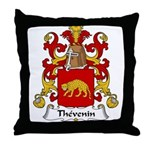 Thevenin Family Crest Throw Pillow