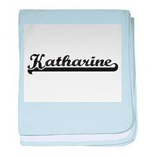 Katharine Classic Retro Name Design baby blanket