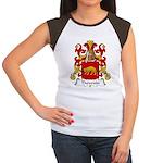 Thevenin Family Crest Women's Cap Sleeve T-Shirt