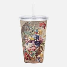 Flower Still Life by J Acrylic Double-wall Tumbler