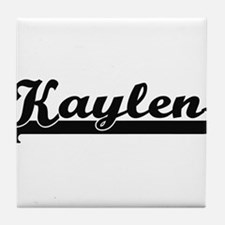 Kaylen Classic Retro Name Design Tile Coaster