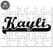 Kayli Classic Retro Name Design Puzzle