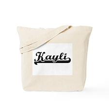 Kayli Classic Retro Name Design Tote Bag
