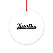 Kaylie Classic Retro Name Design Ornament (Round)