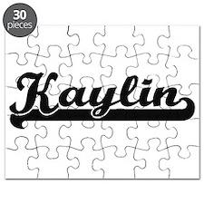 Kaylin Classic Retro Name Design Puzzle
