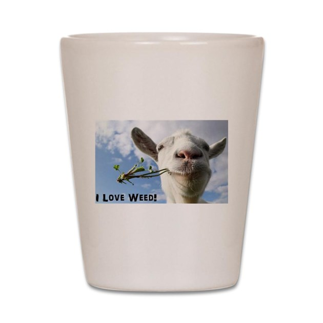 Weed Goat Shot Glass by Admin_CP129251274