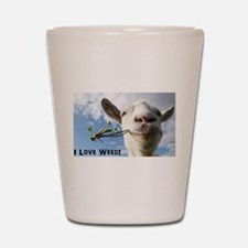 Weed Goat Shot Glass